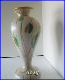 Large Quezal Hearts and Vines Vase