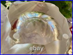Large and Heavy Lalique Ingrid Vase 10.5 Inches Tall, 18 lbs MINT