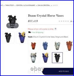 Light Blue Ombré Magnificent Nancy Daum Style Heavy Vase 16/16/25cm Sign France