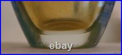 Lundberg Studios Art Glass Daniel Salazar Paperweight Vase Wisteria 8.8 2007