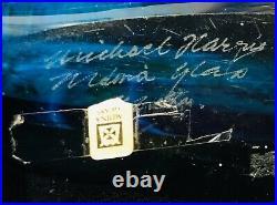 Mdina Glass Fish Vase- Signed
