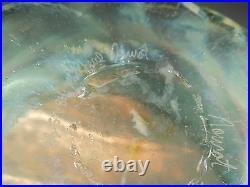 Michael Nourot Large Art Glass Vase Bowl signed Wonderful Colors