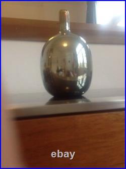 Nuutajärvi Art Glass Finland Oiva Toikka 1980's Studio mirrored Glass Vase