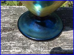 Orient & Flume LE Acorn Art Glass Vase Signed by David Smallhouse 8 1/4