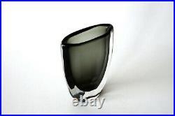 Original Mid-century Vintage Dusk Glass Vase by Nils Landberg for Orrefors