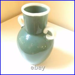 Preston Singletary Green Vase, 1997 Glass Sculpture Authentic, Signed