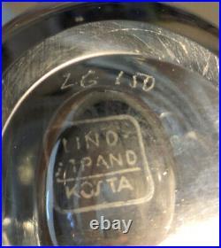 RARE Signed VICKE LINDSTRAND KOSTA BODA Vase Etched Glass Wading Lady, 1950's