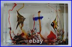 Rare Signed Alfredo Barbini Cenedese Murano Glass Aquarium, Attributed To