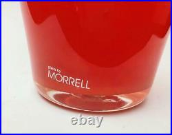 Richard Morrell Australian Glass Large Tangerine Orange Vase Signed With Label