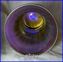 Signed Nash Iridescent Art Nouveau Glass Vase Tiffany Studios Favrile No Reserve
