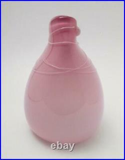 Signed Tricia Allen 1987 Australian Studio Art Glass Pocket Vase