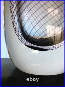 Signed Vicke Lindstrand Swirl Glass Vase