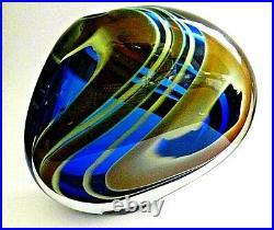 Signed large 4.4 kg PETER LAYTON British Studio Art Glass vase
