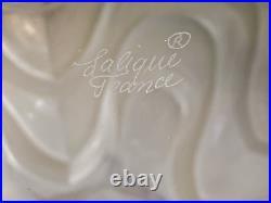 Spectacular Lalique Crystal Vibrations Spherical 12 Vase Signed Mint