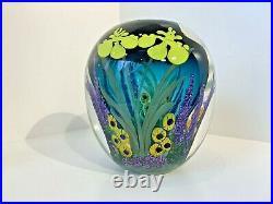Spectacular Signed Studio Art Glass Vase Heilman