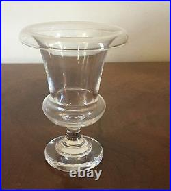 Steuben Glass Urn Vase Art Deco Rolled Rim Crystal Signed 1940 Pre War