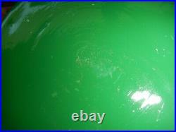 Steuben green jade optic swirl vase 11 tall