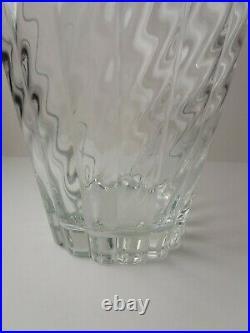 Tiffany & Co Swirl and Ribbed 10.5 Heavy Crystal Vase