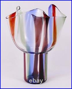 Timo Sarpaneva for Venini Murano Glass Kukinto Vase Perfect