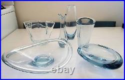 VINTAGE 50s 60s HOLMEGAARD DANISH MODERN GLASS COLLECTION PER LUTKEN eames era