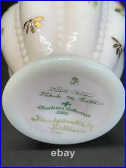 VTG Fenton Art Glass QVC Charleton Collection Melon Vase Signed Bill & Frank