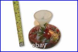 Vase Daum Nancy Vintage Glass Cameo Art Signed France French 30's