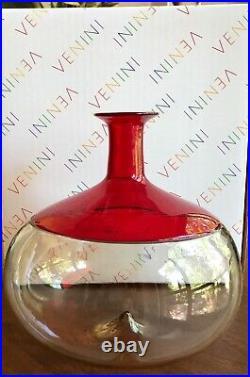 Venini Bolle Venini Vase Bolle 502.01 Bottle Bolle Tapio Wirkkala signed