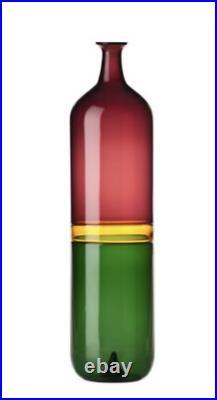 Venini Bottle- Vase Bolle 503.00 Tapio Wirkkala signed Retail $3010