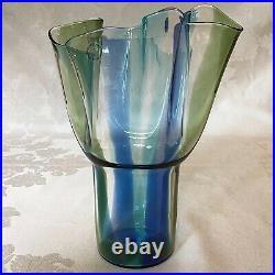 Venini Murano Kukinto 10 Art Glass Vase / Timo Sarpaneva 1996 Signed & dated