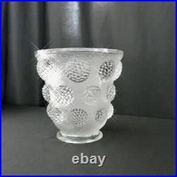 Verlys Les Cabochon VASE French Art Glass Vase, Opalescent, Circa 1937 Exquisite