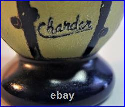 Very Fine SCHNEIDER CHARDER FRENCH Art Deco Cameo Glass Vase c. 1925 antique
