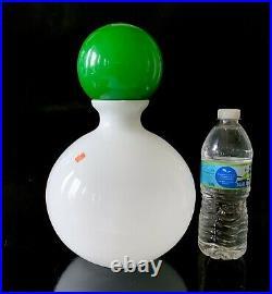 Vintage 1960s Carlo Moretti Murano Italy Decanter Bottle Vase Signed