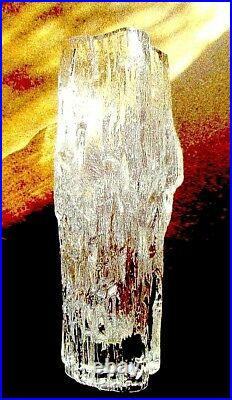 Vintage 1970 Signed Littala Tapio Wirkkala Modernist Art Glass Vase Finland