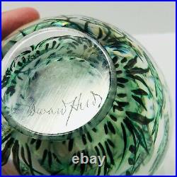 Vintage Orrefors Fishgraal Fish Graal Heavy Aquarium Vase Signed Edward Hald