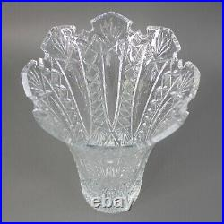 Waterford Cut Crystal Fred Curtis Signed Master Cutters Maritana Large Vase 14